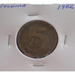 Polónia - 5 Zlotych - 1982