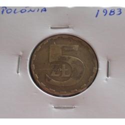 Polónia - 5 Zlotych - 1983