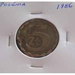 Polónia - 5 Zlotych - 1986