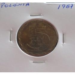 Polónia - 5 Zlotych - 1987