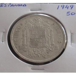 Espanha - 5 Pesetas - 1949-50