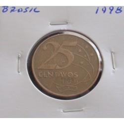 Brasil - 25 Centavos - 1998