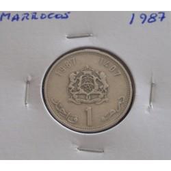 Marrocos - 1 Dirham - 1987