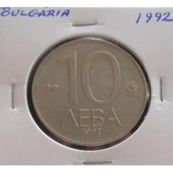 Bulgária - 10 Leva - 1992