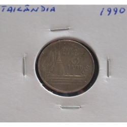 Tailândia - 1 Baht - 1990