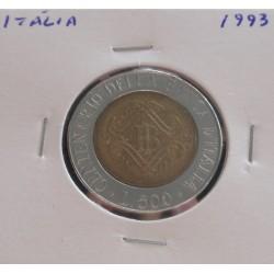 Itália - 500 Lire - 1993