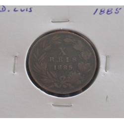 D. Luis - X Réis - 1885