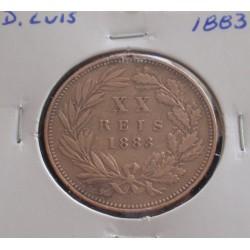 D. Luis - XX Réis - 1883