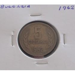 Bulgária - 5 Stotinki - 1962
