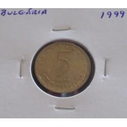 Bulgária - 5 Stotink - 1999