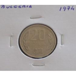 Bulgária - 20 Stotinki - 1974