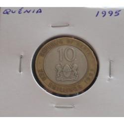 Quénia - 10 Shillings - 1995