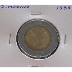 San Marino - 500 Lire - 1983