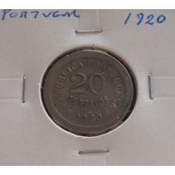 Portugal - 20 Centavos - 1920