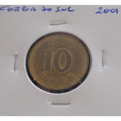 Coreia do Sul - 10 Won - 2001