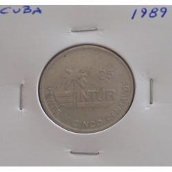 Cuba - 25 Centavos - 1989 -...