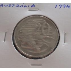Austrália - 20 Cents - 1994
