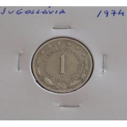 Jugoslávia - 1 Dinara - 1974