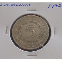 Jugoslávia - 5 Dinara - 1972