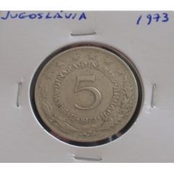 Jugoslávia - 5 Dinara - 1973