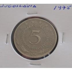 Jugoslávia - 5 Dinara - 1975