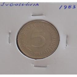 Jugoslávia - 5 Dinara - 1983