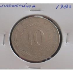 Jugoslávia - 10 Dinara - 1981