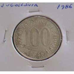 Jugoslávia - 100 Dinara - 1986