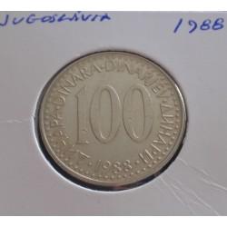 Jugoslávia - 100 Dinara - 1988