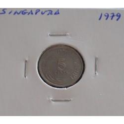 Singapura - 5 Cents - 1979