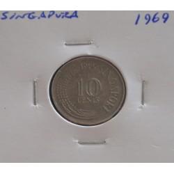 Singapura - 10 Cents - 1969