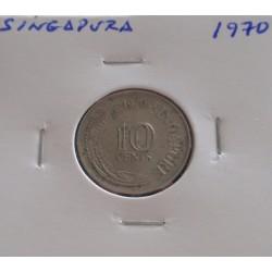 Singapura - 10 Cents - 1970