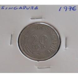 Singapura - 20 Cents - 1976