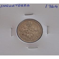 Inglaterra - 6 Pence - 1964