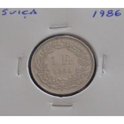 Suiça - 1 Franc - 1986