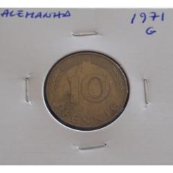 Alemanha - 10 Pfennig - 1971 G
