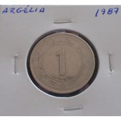 Argélia - 1 Dinar - 1987