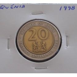 Quénia - 20 Shillings - 1998