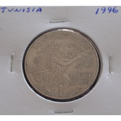 Tunísia - 1 Dinar - 1996