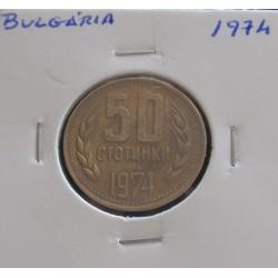 Bulgária - 50 Stotinki - 1974