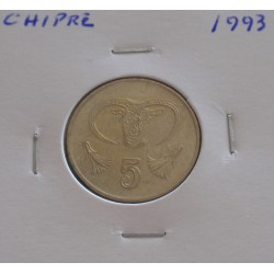 Chipre - 5 Cents - 1993