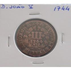 D. João V - III Réis - 1744...