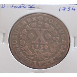 D. João V - X Réis - 1734 -...