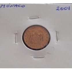 Mónaco - 1 Centime - 2001