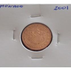 Mónaco - 2 Centimes - 2001