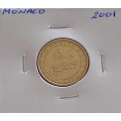 Mónaco - 10 Centimes - 2001