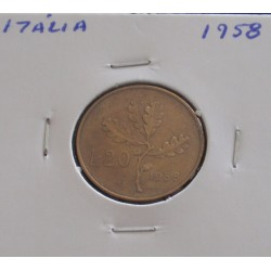 Itália - 20 Lire - 1958