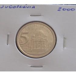 Jugoslávia - 5 Dinara - 2000
