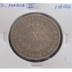D. Maria II - X Réis - 1850