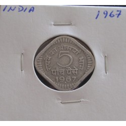 India - 5 Paise - 1967